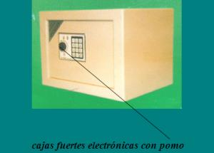 Cajas fuerte electronicas con pomo