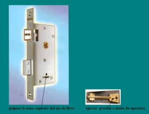 cerradura y llave doble paleta