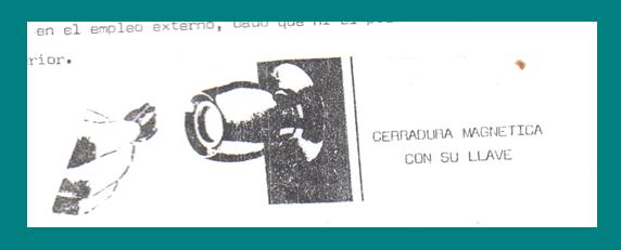 cerradura magnética con llave