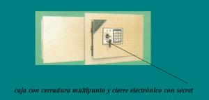 caja fuerte con cerradura multipunto y cierre electronico secreto