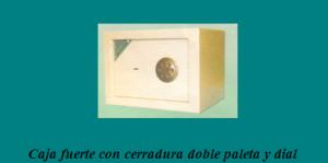 caja fuerte con cerradura doble paleta y dial