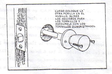 INSTALACION CERRADURA DE POMO: instalar pomo 2