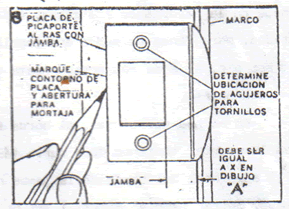 INSTALACION CERRADURA DE POMO: instalar pomo 4