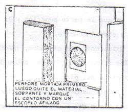 INSTALACION CERRADURA DE POMO: instalar pomo 5