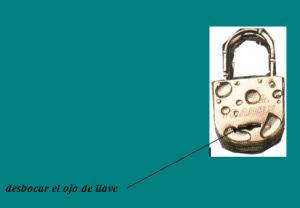ojo llave candado