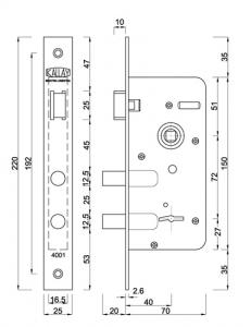 mapa modelo 4001